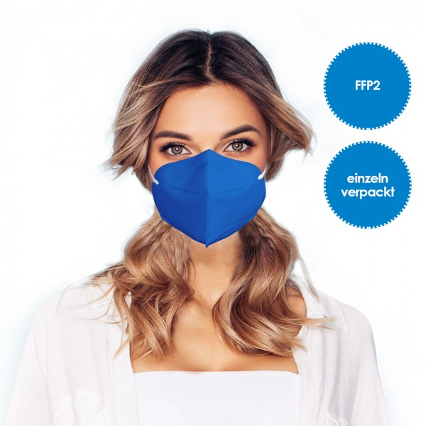 FFP2 Respirator mask pack of 1 *blue*