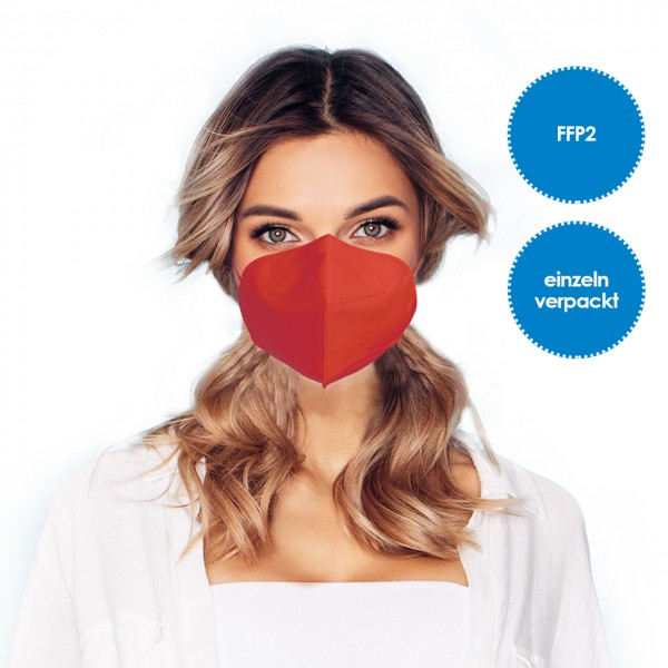 FFP2 Respirator mask pack of 1 *red*
