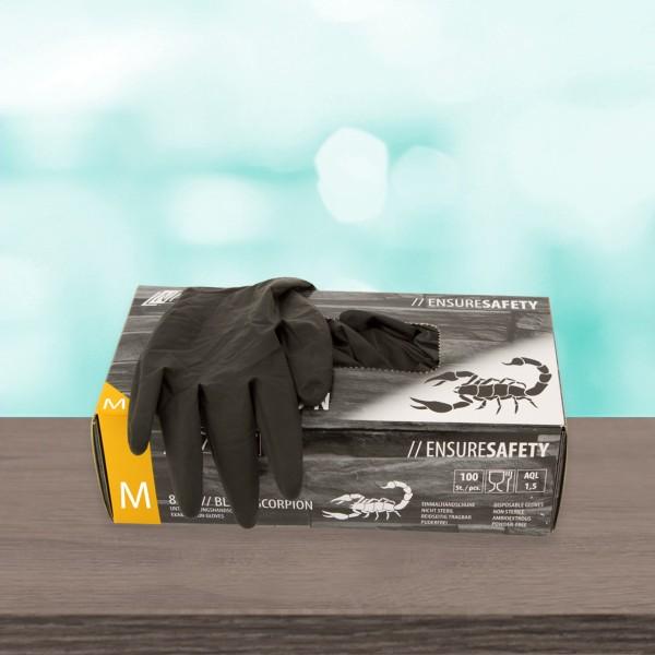 Latex gloves Black Scorpion Black