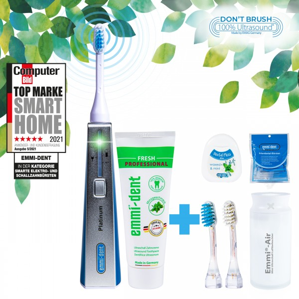 Ultrasonic toothbrush Platinum Blue+Humidifier