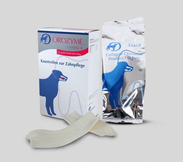 Orozyme® Canine - Chew Strips for dental care L