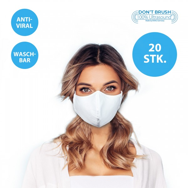 Mouth and nose mask, temporary mask with nanosilver *washable* 20 pieces