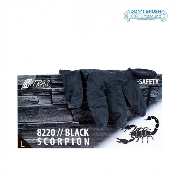 Latex gloves Black Scorpion Black L