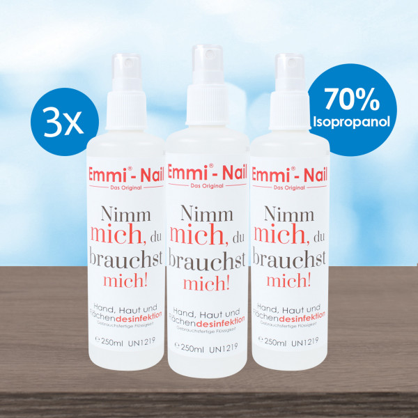 Emmi-Nail 3-pack spray disinfection 250ml