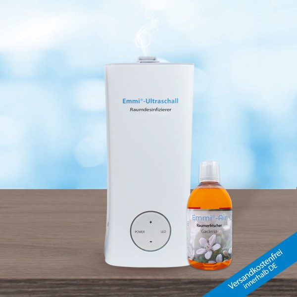Emmi room air disinfector + Emmi-BioDes room disinfection concentrate
