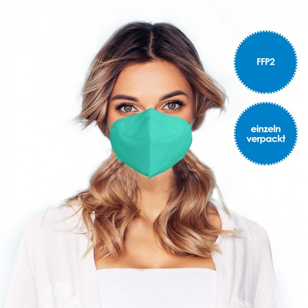 FFP2 Respirator mask pack of 1 *green*