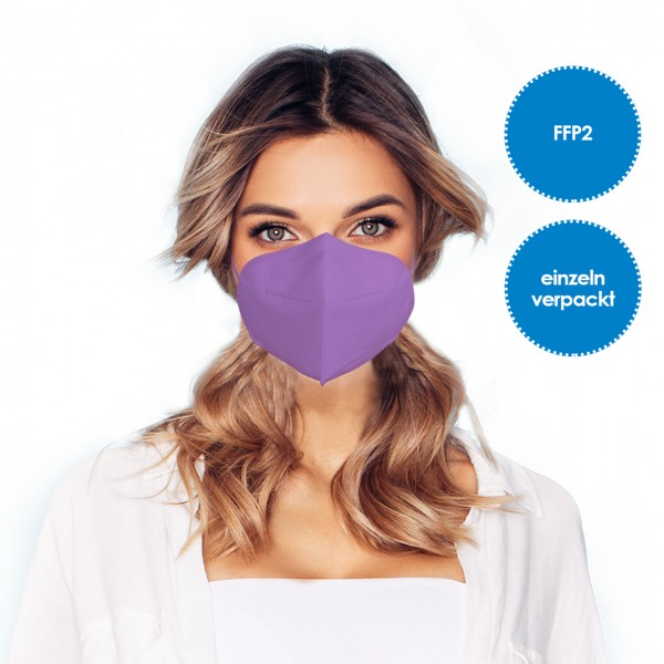 FFP2 Respirator mask pack of 1 *purple*